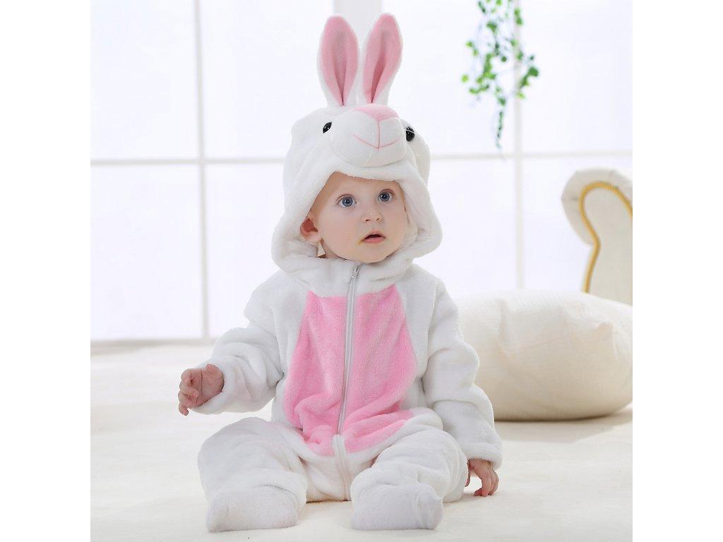 Overal pro miminko bílý Zajíc