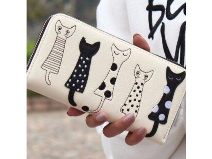 Dámská peněženka s kočičkami
