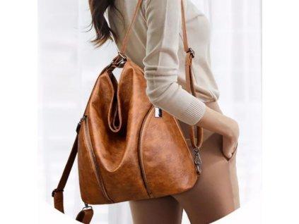 Luxusní kožená kabelka a batoh 2 v 1